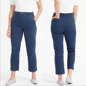 Everlane The Straight Leg Crop Pants Blue Size 6